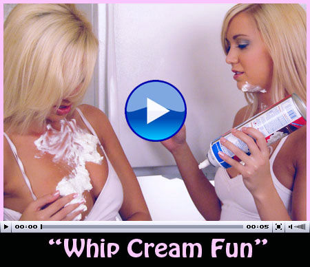 lesbian twin sisters whip cream play