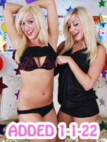 twin sisters playting naughty