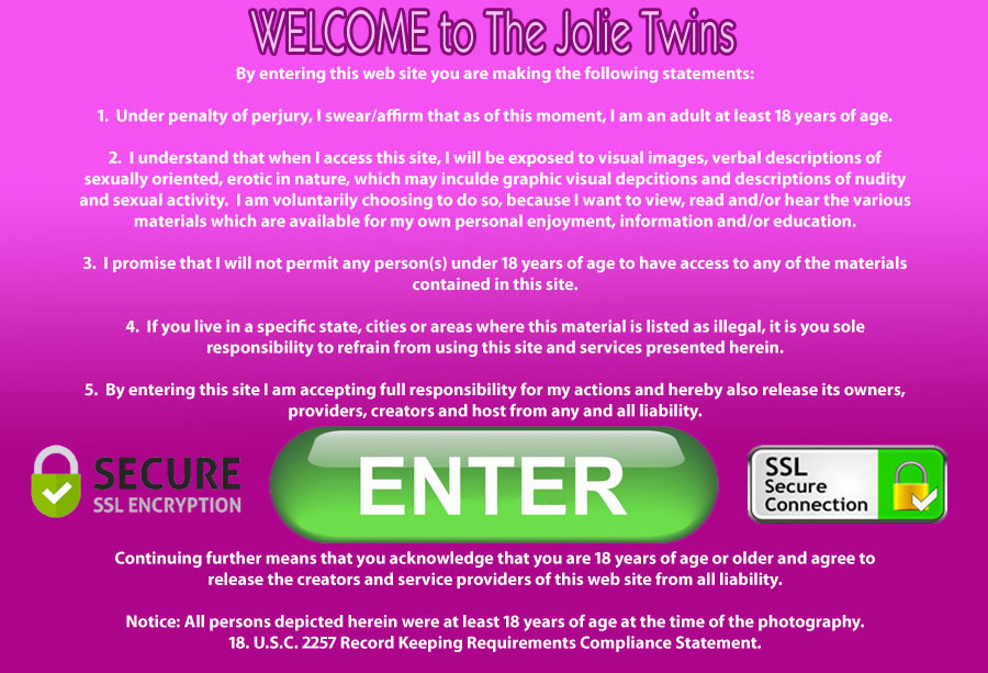The Jolie Twins erotic twin sisters website